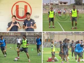 Universitario: Dalton Moreira tuvo su primera práctica con el plantel crema