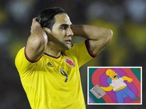 Los Simpsons se unieron a los lamentos por la lesión de Radamel Falcao