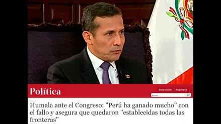 Así informaron en Chile presentación de Humala en el Congreso