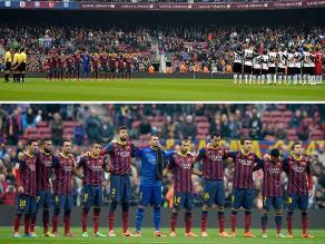 Camp Nou rindió un minuto de silencio tras muerte de Luis Aragonés