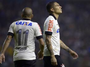 Corinthians con Paolo Guerrero cayó 2-1 ante Ponte Preta en Paulistao