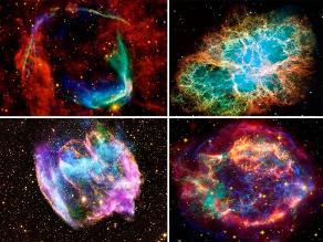 NASA: impresionantes fotografías de supernovas