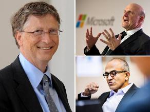 Microsoft: Los tres CEOs de la historia de la empresa