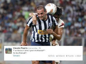 Claudio Pizarro festeja el triunfo de Alianza Lima en el clásico