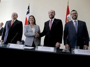 Cancilleres y ministros de Defensa de Perú y Chile sostienen reunión 2+2