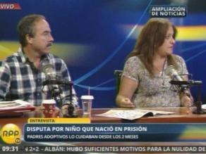 Pareja peruana lucha por adopción de niño nacido en prisión