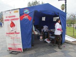 Cajamarca: realizan campaña de donación voluntaria de sangre