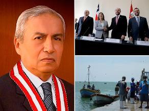 Paso hoy: Pescadores peruanos fugan de Chile, Pedro Chávarry fue elegido fiscal representante del MP frente al JNE, se llevó a cabo la reunión 2+2