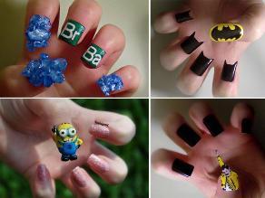 ¿Te imaginas tener tus películas o series favoritas en las uñas?