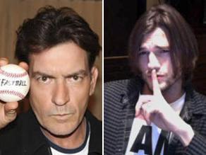 ¿A cuál prefieres, Charlie Sheen o Ashton Kutcher?