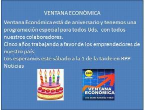 Ventana Econòmica Quinto Aniversario