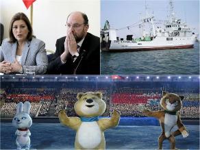Sucedió hoy: Eda Rivas afirma que coordenadas marítimas se definirán antes de acabar marzo, presentan buque que investigará nueva zona marítima e inician los Juegos Olímpicos de Invierno de Sochi