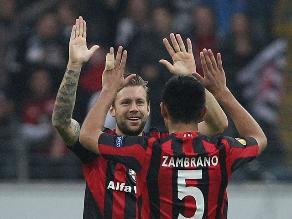 Bundesliga: Eintracht Frankfurt con Carlos Zambrano goleó a Braunschweig
