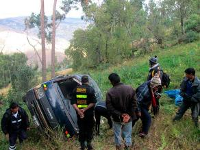 Cajamarca: cuatro muertos en despiste y vuelco de vehículo