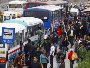 Declaran saturada red vial del transporte público de Lima Metropolitana