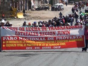 Huancayo: estatales protestarán en contra de sueldos ministeriales