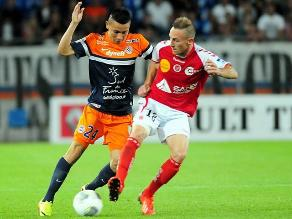 Jean Deza fue titular en la eliminación del Montpellier en Copa Francia