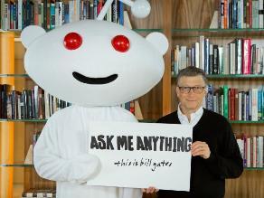 Bill Gates habla de filantropía, tecnología y condones
