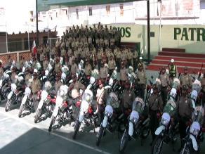 Arequipa: incorporan 50 motos para patrullaje de seguridad ciudadana