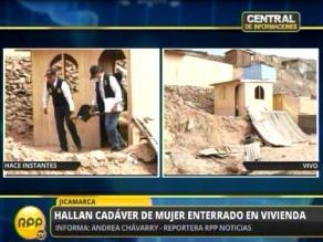 Hallan cadáver de mujer enterrado en vivienda de Jicamarca