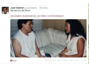 Juan Gabriel recordó a Eva Ayllón en Twitter