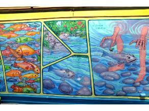 El bagrecico, cuento infantil para escuchar y ver a través de un mural