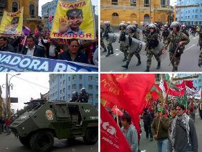 Arequipa: marcha contra aumento de sueldos de ministros y funcionarios