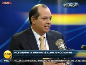 Castilla: Alza de sueldos fue desde un inicio por instrucciones de Humala