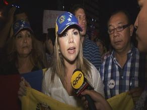 Venezolanos se manifestaron frente a su embajada en Lima