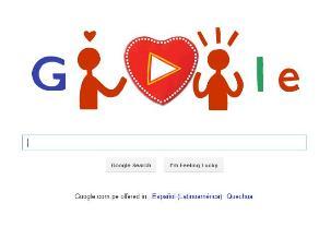 Google se une a celebraciones por San Valentin con doodle interactivo