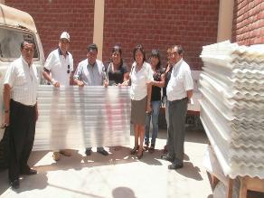 Chiclayo: entregan calaminas para nuevo local de colegio Labarthe