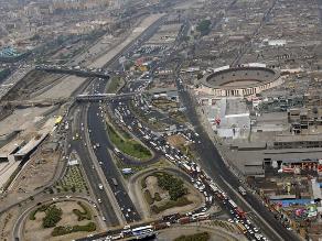 Así se ve el tráfico en Lima en horas punta desde el aire