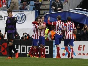 Atlético de Madrid se recuperó en la Liga con goleada sobre Valladolid