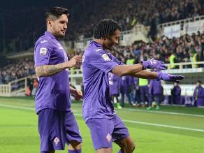 Con Vargas como titular, Fiorentina cayó 2-1 ante el Inter por la Serie A