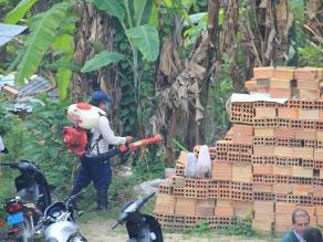 Pobladores de Uchiza toman medidas ante alerta roja por dengue