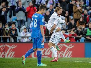 Real Madrid goleó sin problemas 3-0 a Getafe por la Liga española