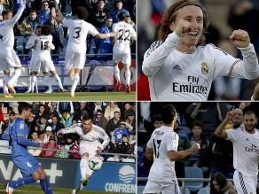 Revive el triunfo de Real Madrid ante Getafe por la Liga española