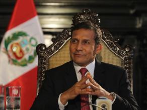 Ipsos: A 33% subió la aprobación del presidente Ollanta Humala