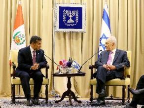 Humala se reunió con presidente de Israel en gira por Oriente Medio