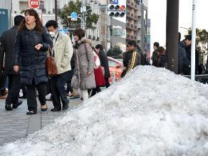 Las nevadas vacían los supermercados y disparan los precios en Japón