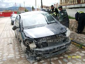 Chupaca: dos personas fallecidas deja despiste de auto