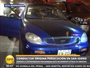 Crónica de madrugada: Conductor ebrio huye y causa accidente en San Isidro