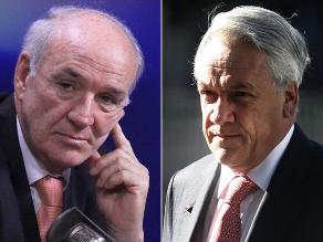 García Belaunde evita entrar en dimes y diretes con presidente de Chile