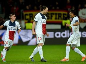 Champions: PSG goleó 4-0 al Leverkusen con partidazo de Ibrahimovic