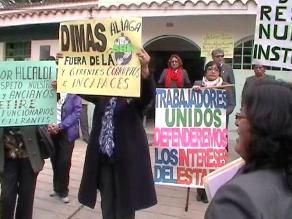 Huancayo: trabajadores de la Beneficencia exigen salida de funcionarios