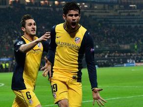 Atlético Madrid venció 1-0 al Milan en San Siro por Champions League