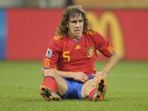 Selección española: es muy 'difícil' que Puyol vaya al Mundial