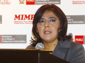 Ministra Ana Jara criticó a Lourdes Flores por apoyar a Secada