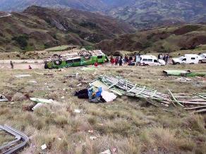 La Libertad: al menos siete heridos en volcadura de bus interprovincial