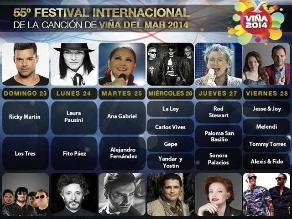 Rod Stewart, Ricky Martin y Laura Pausini, figuras del Festival de Viña